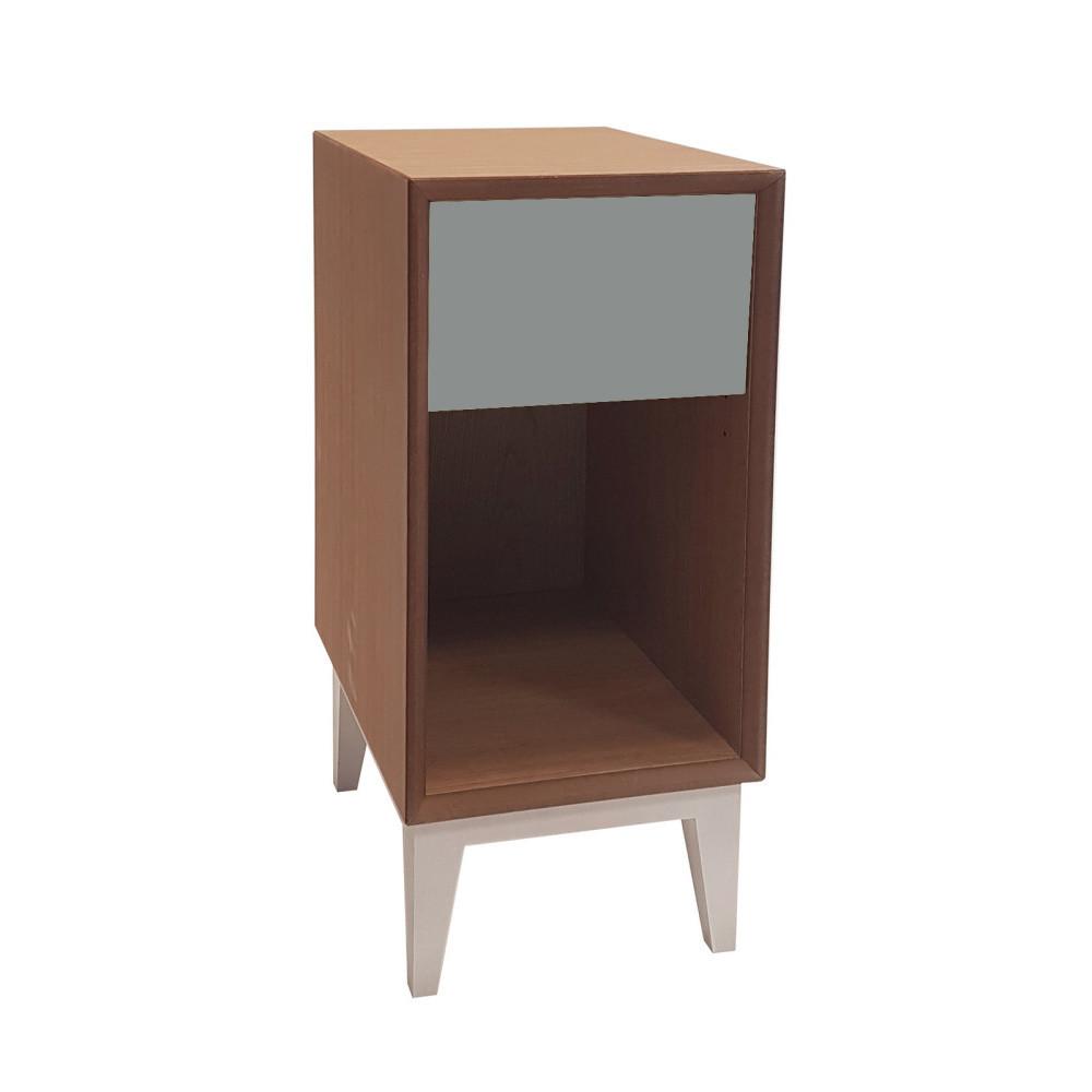 Malý nočný stolík s tmavosivou zásuvkou Ragaba PIX
