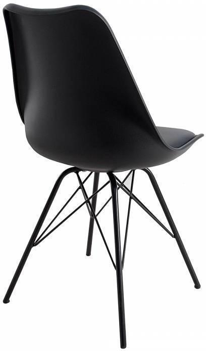 Stolička SCANDO - čierna