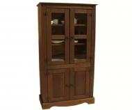 Furniture nábytok  Masívna vitrína / príborník z Palisanderu  Sírús  80x45x180 cm