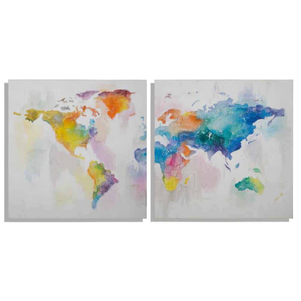 Sada 2 obrazov Mauro Ferretti Mad World, 100 x 100 cm