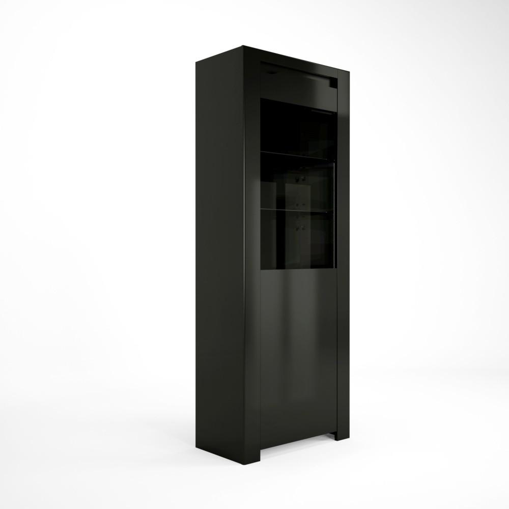 Čierna vitrína Artemob Orlando, 68×180 cm
