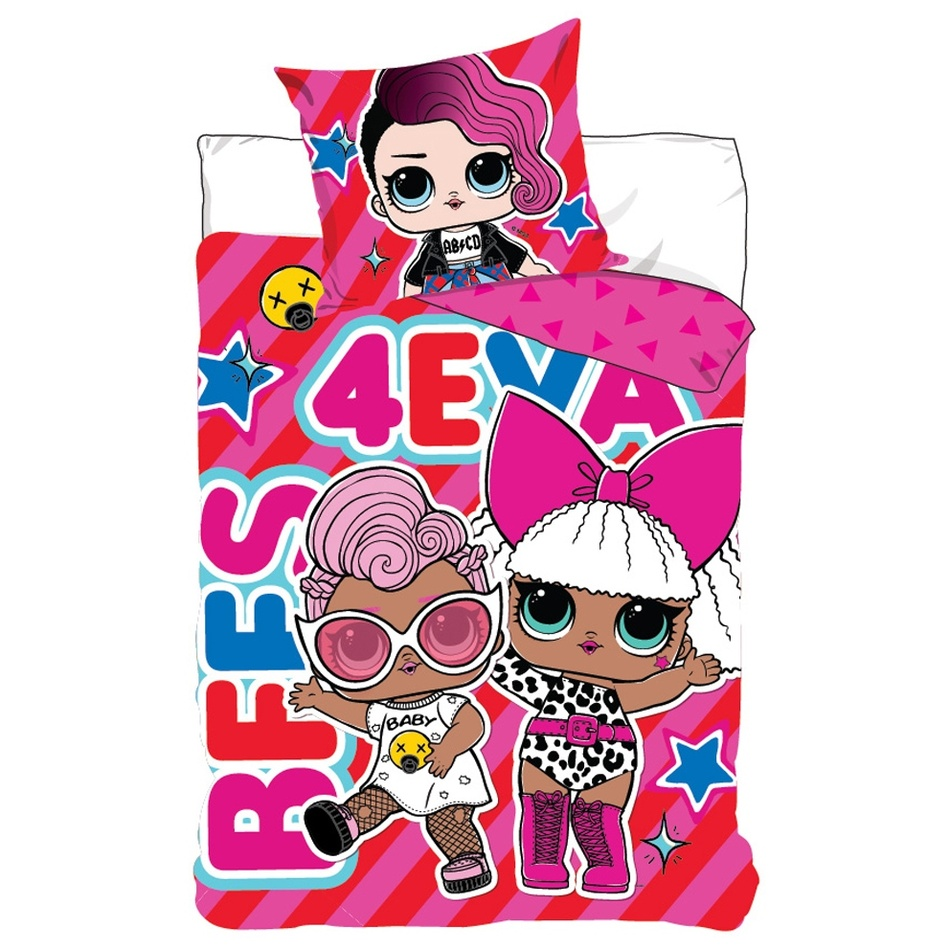 Detské bavlnené obliečky LOL Surprise Best 4ever, 140 x 200 cm, 70 x 90 cm