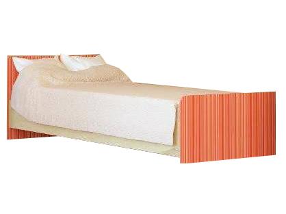 Jednolôžková posteľ 90 cm Simba rainbow oranžová (s roštom)