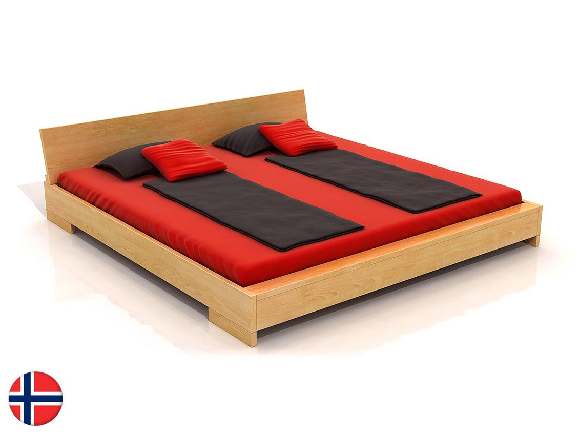 Manželská posteľ 160 cm Naturlig Lekanger (borovica) (s roštom)
