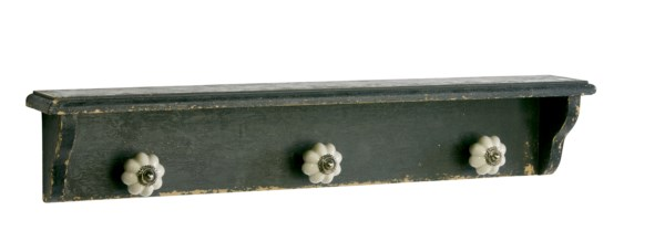 Nástenný vešiak COIL - antická čierna