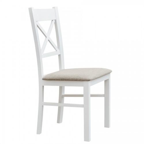 Biely nábytok Stolička Belluno Elegante 22, čalúnenie PORTOS 734