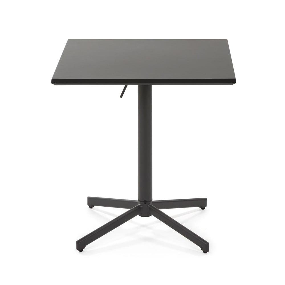 Čierny konferenčný stolík La Forma Advance, výška 75 cm