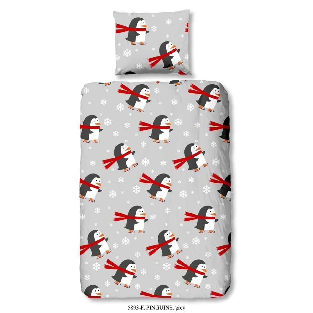 Detské bavlnené obliečky Good Morning Pinguins, 140 x 200 cm