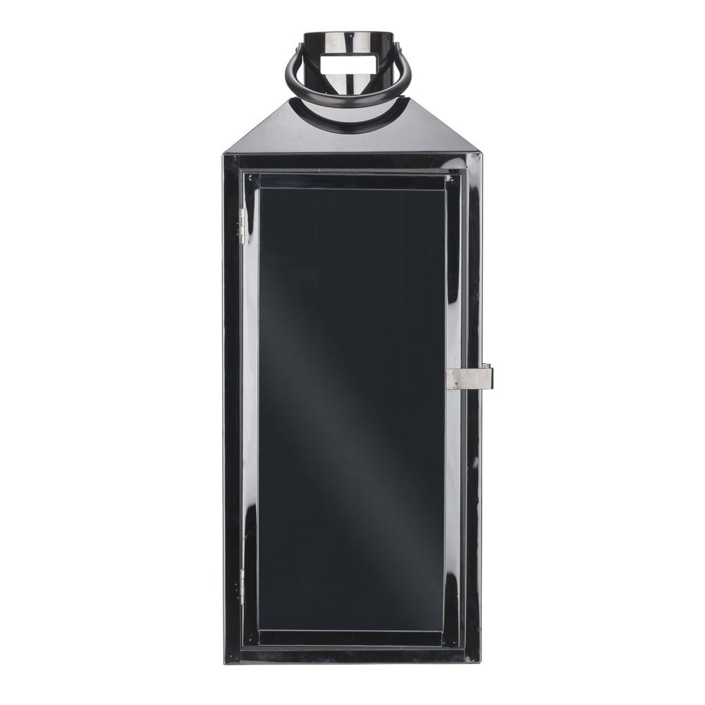 Čierny kovový lampáš s pútkom Villa Collection, 44,5 cm