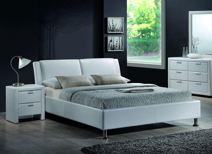 MIDO čalúnená posteľ 140x200 cm, biela