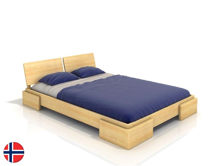 Manželská posteľ 200 cm Naturlig Jordbaer (borovica) (s roštom)