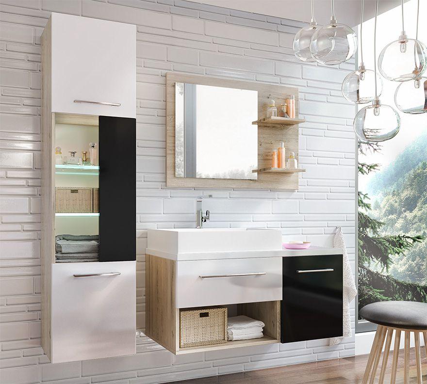 ARABA čierna - kúpeľňová zostava