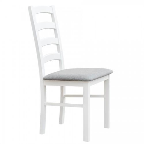 Biely nábytok Stolička Belluno Elegante 01, čalúnenie LARGO
