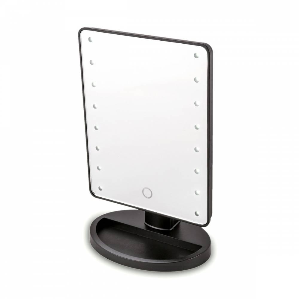 Kozmetické zrkadlo Lumiére, čierna