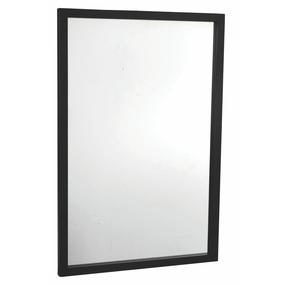 Čierne dubové zrkadlo Folke Lodur