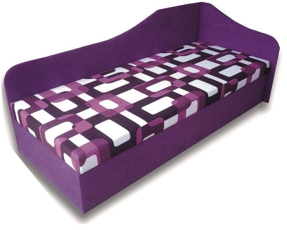 Jednolôžková posteľ (váľanda) 80 cm Lux 87 (P) (s matracom)
