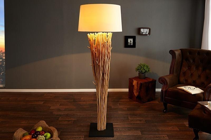 Stojaca lampa EUPHORIA 180 cm - prírodná/biela