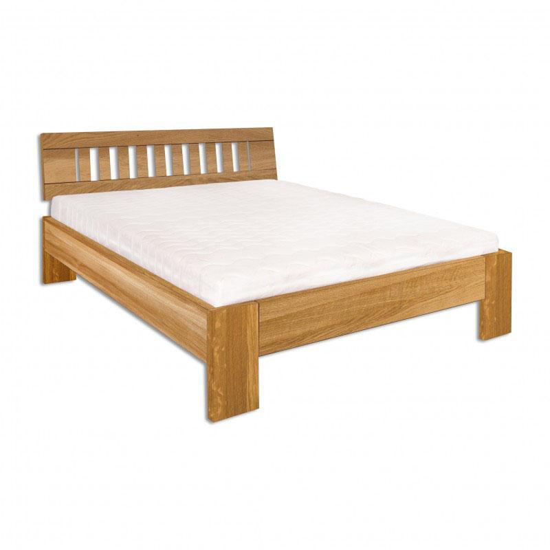 Manželská posteľ 200 cm LK 293 (dub) (masív)
