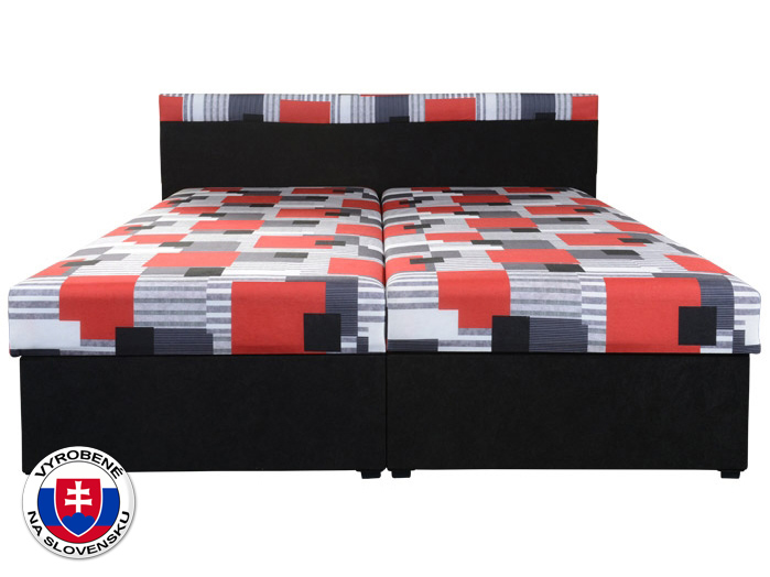 Manželská posteľ 160 cm Carmen (s pružinovým matracom)