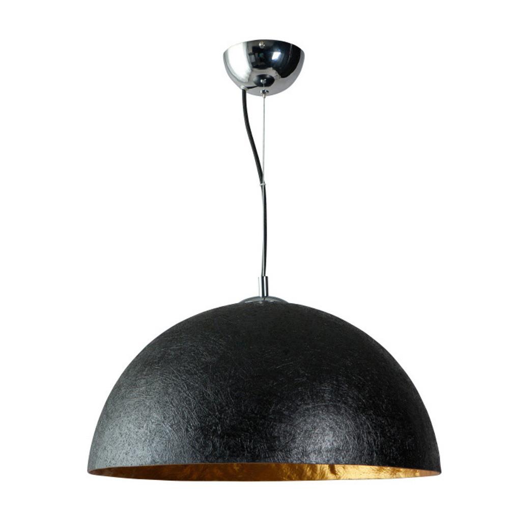 Čierno-zlaté stropné svietidlo ETH Mezzo Tondo, ⌀50cm