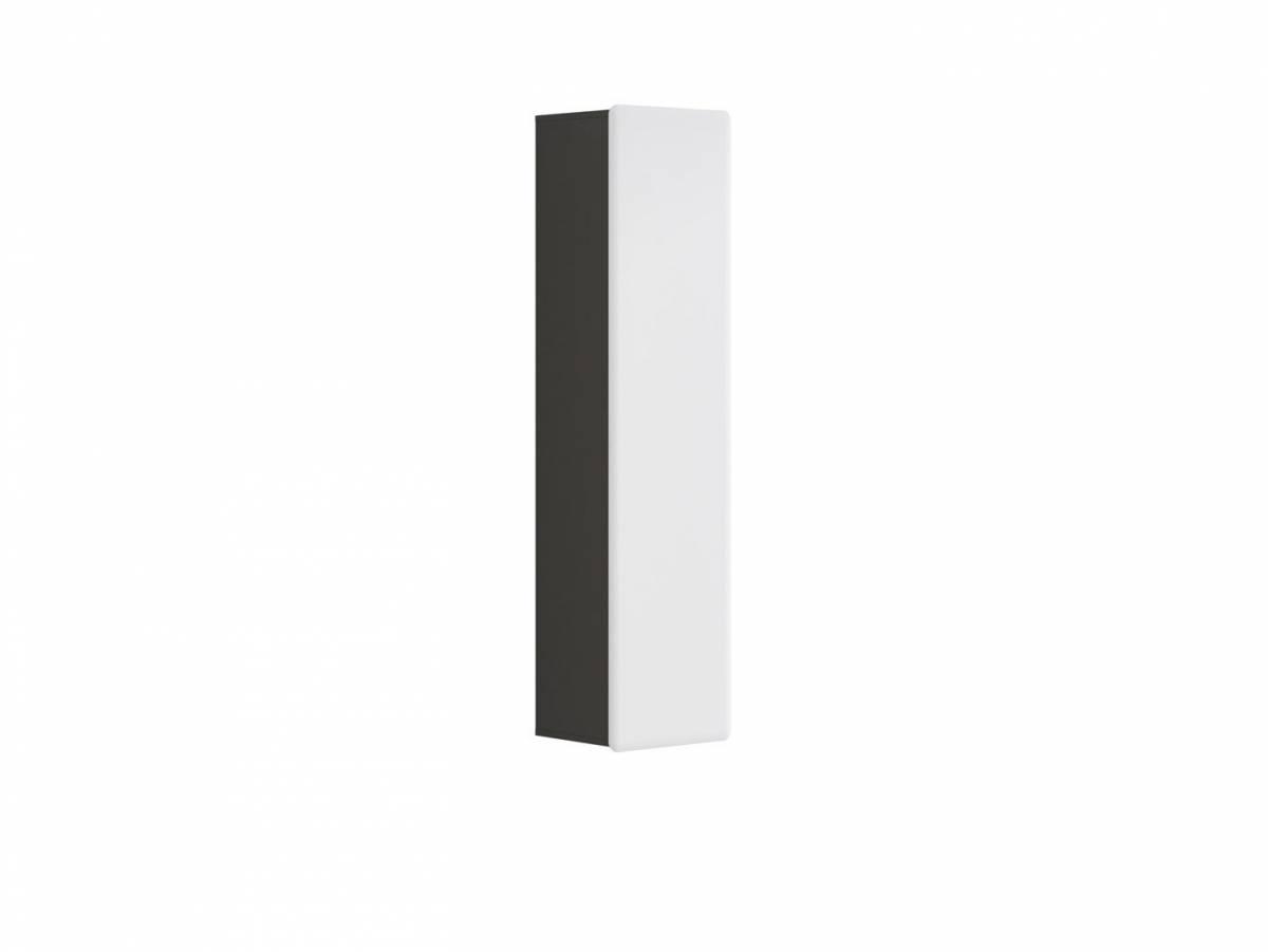 Skrinka na stenu Possi Light SFW1D/16/4 (sivý wolfram + lesk biely)