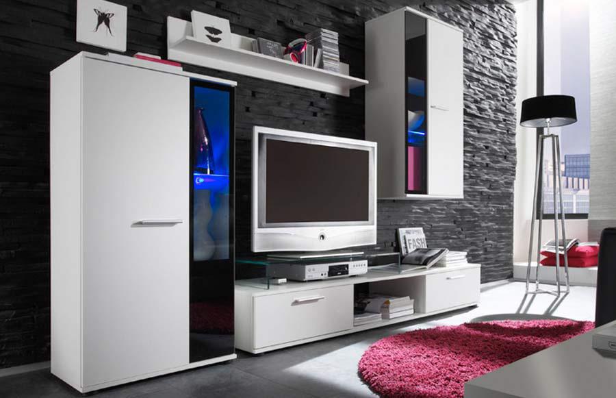 SAMBA obývacia stena, biela