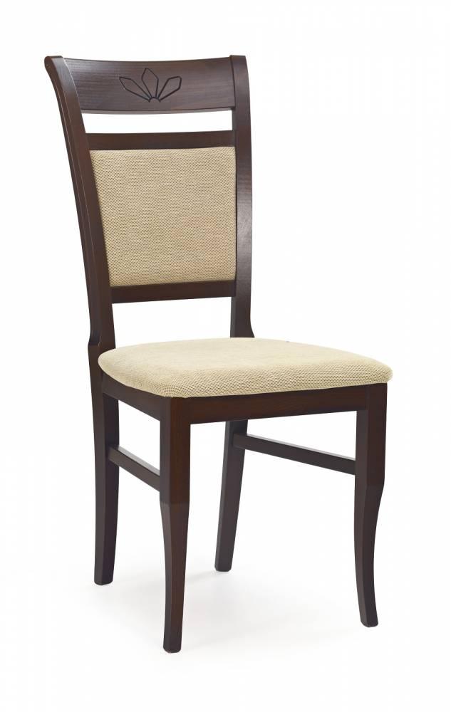 Jedálenská stolička Jakub Orech tmavý + béžová