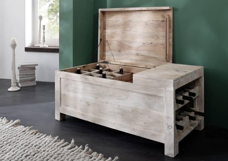 NATURE WHITE truhlica na víno #34 lakovaný agátový nábytok