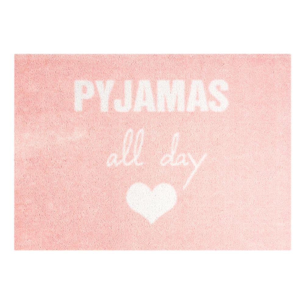 Ružová rohožka Mint Rugs  StateMat Pyjamas All Day, 50x75cm