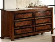 Furniture nábytok  Masívna komoda so 6 zásuvkami  z Palisanderu  Rukminí  130x46x76 cm
