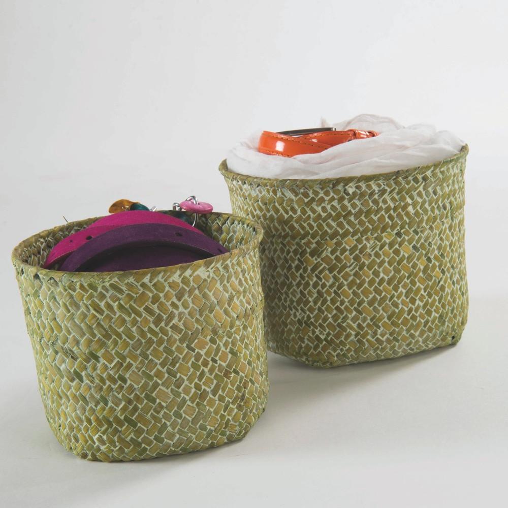 Sada 2 zelených úložných košíkov Compactor Rush