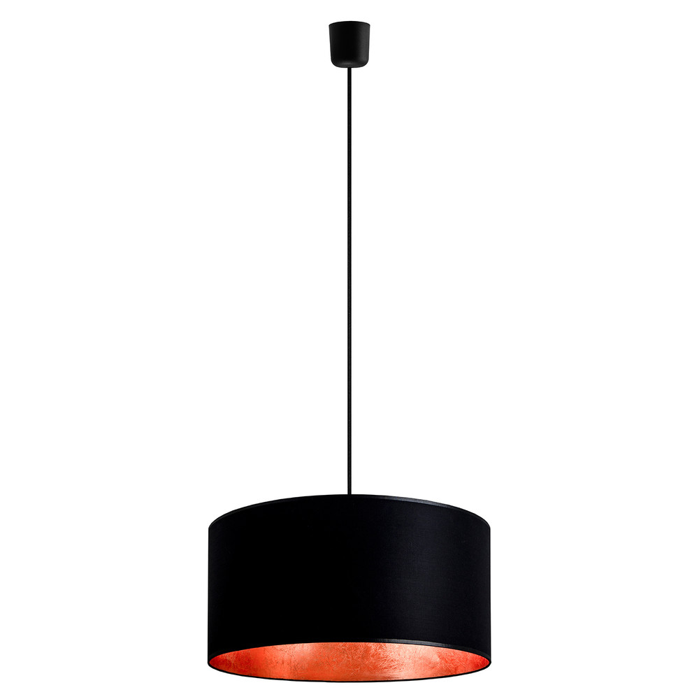 Čierno-medené závesné svietidlo Sotto Luce Mika, Ø 40 cm
