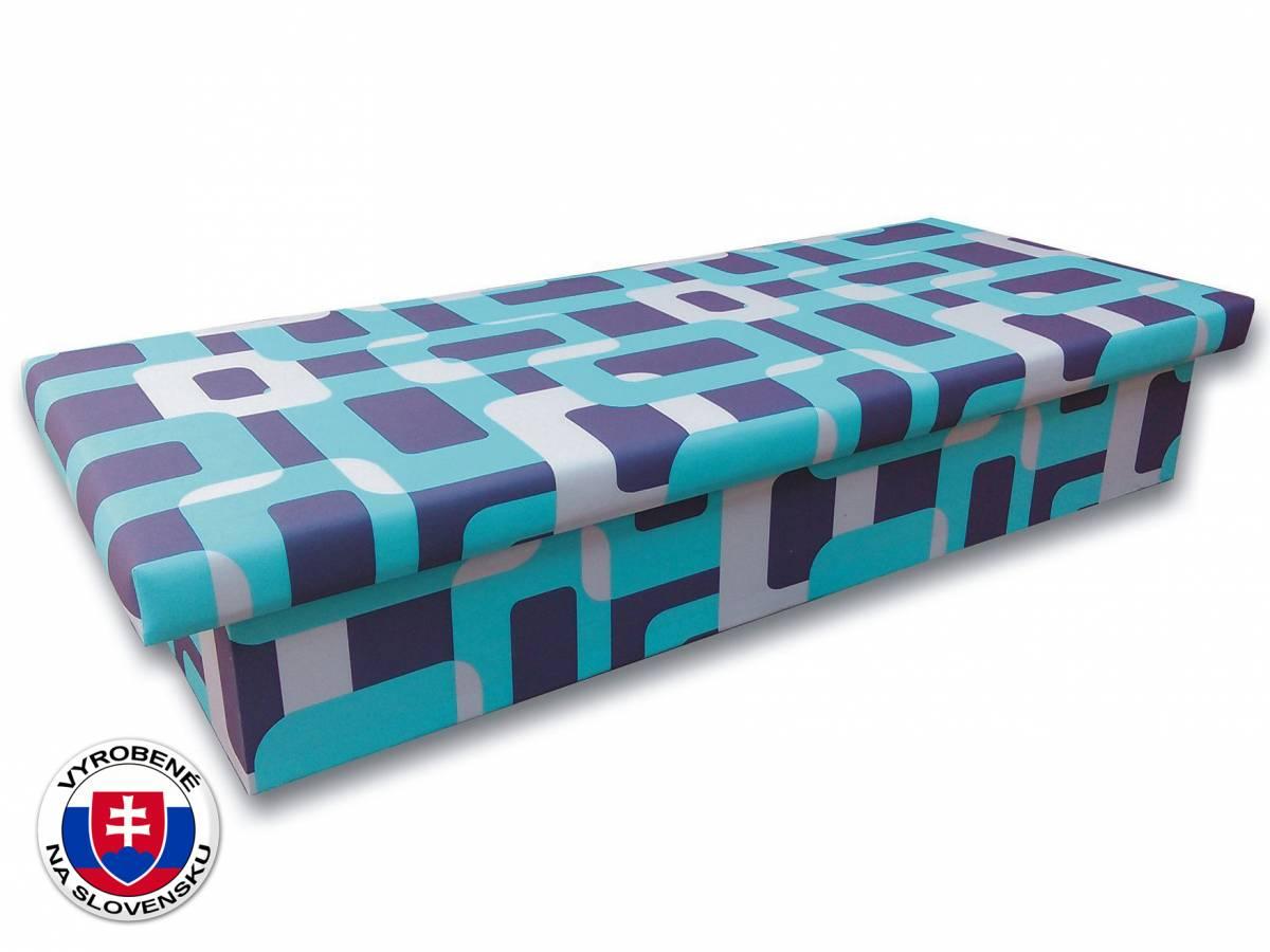 Jednolôžková posteľ (váľanda) 90 cm Jana 10 (Gusto 4A tyrkysová)