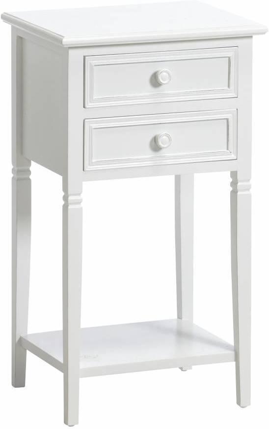 Toaletný stolík LARS - biela