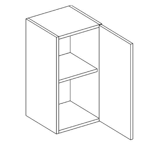 >> W60/58 horná skrinka 1-dverová MOREEN Gaštan