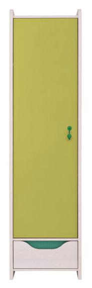 Policová skriňa Hihot REG1D1S   Farba: dub jasný belluno/ zelená