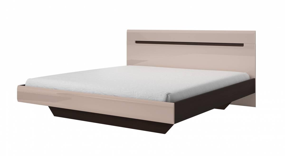 Manželská posteľ 160 cm Typ 31 (dub sonoma tmavá + sivý pieskový lesk)