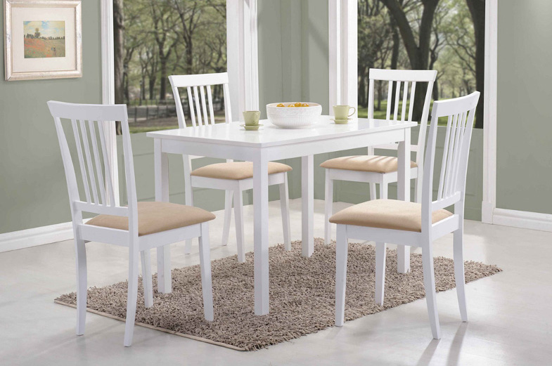 FORD jedálenský stôl 80x60 cm, biely