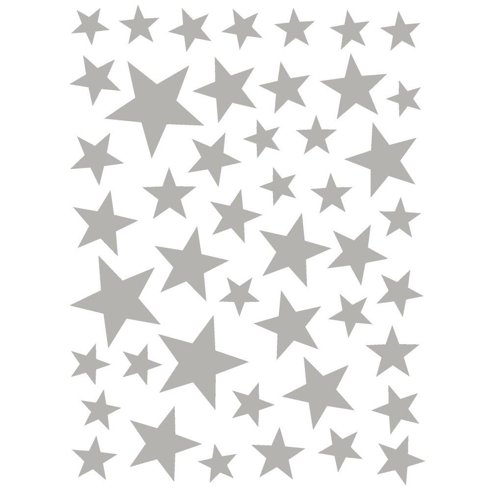 Nástenné samolepky v striebornej farbe Art For Kids Stars