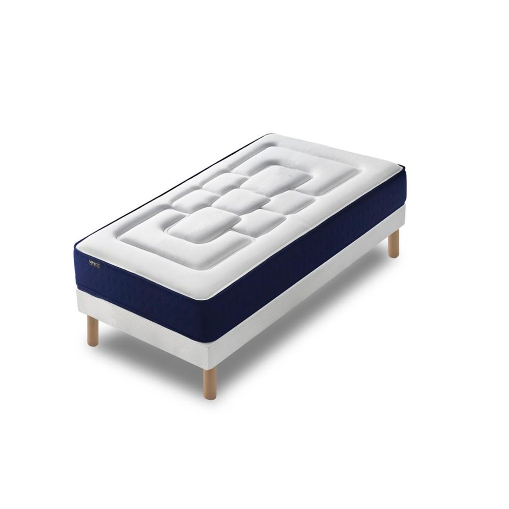 Jednolôžková posteľ s matracom Bobochic Paris Velours, 90 x 190 cm