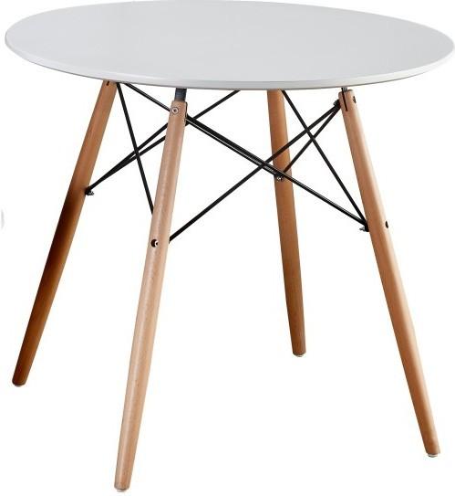 Jedálenský stôl, drevo + MDF, biela , GAMIN 90