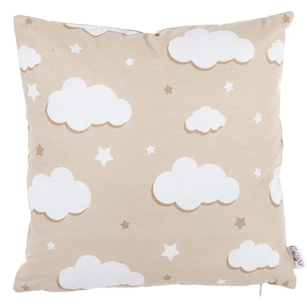 Svetlohnedá bavlnená obliečka na vankúš Apolena Skies, 35 x 35 cm