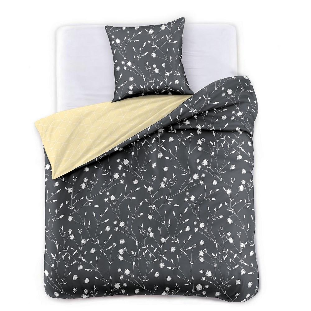 DecoKing Saténové obliečky Dandelion, 140 x 200 cm, 70 x 90 cm, 140 x 200 cm, 70 x 90 cm