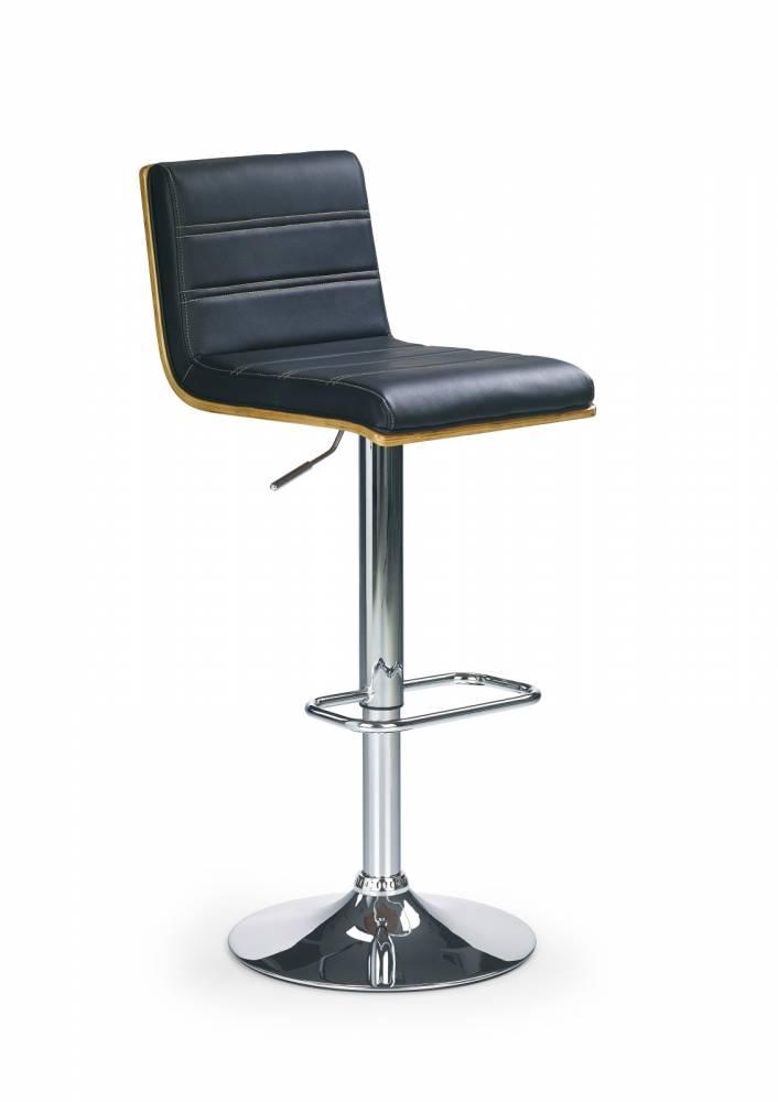 Barová stolička H-31 Orech + Čierna