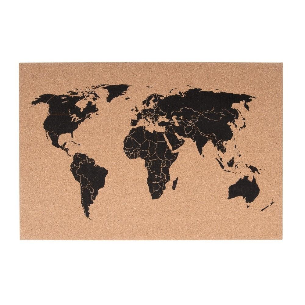 Korková nástenná mapa PT LIVING World