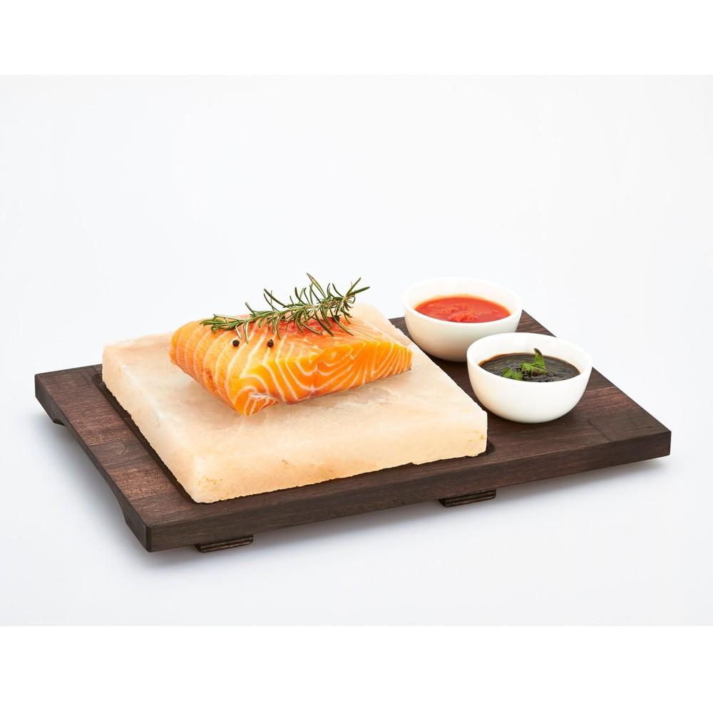 Servírovací podnos so soľnou doskou a miskami Salt Plate, 38 x 27 cm
