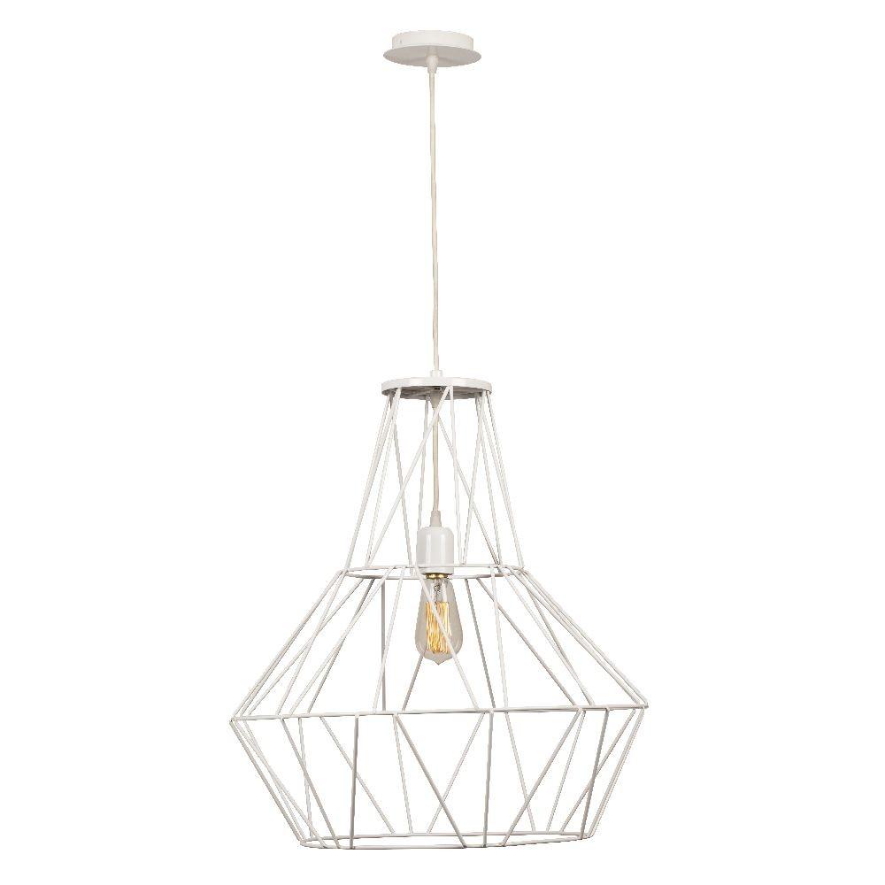 Biele stropné svietidlo Cage Diamond