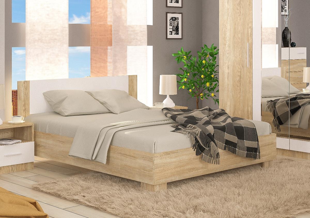 RENAR MARKOS 160 posteľ - dub sonoma / biela