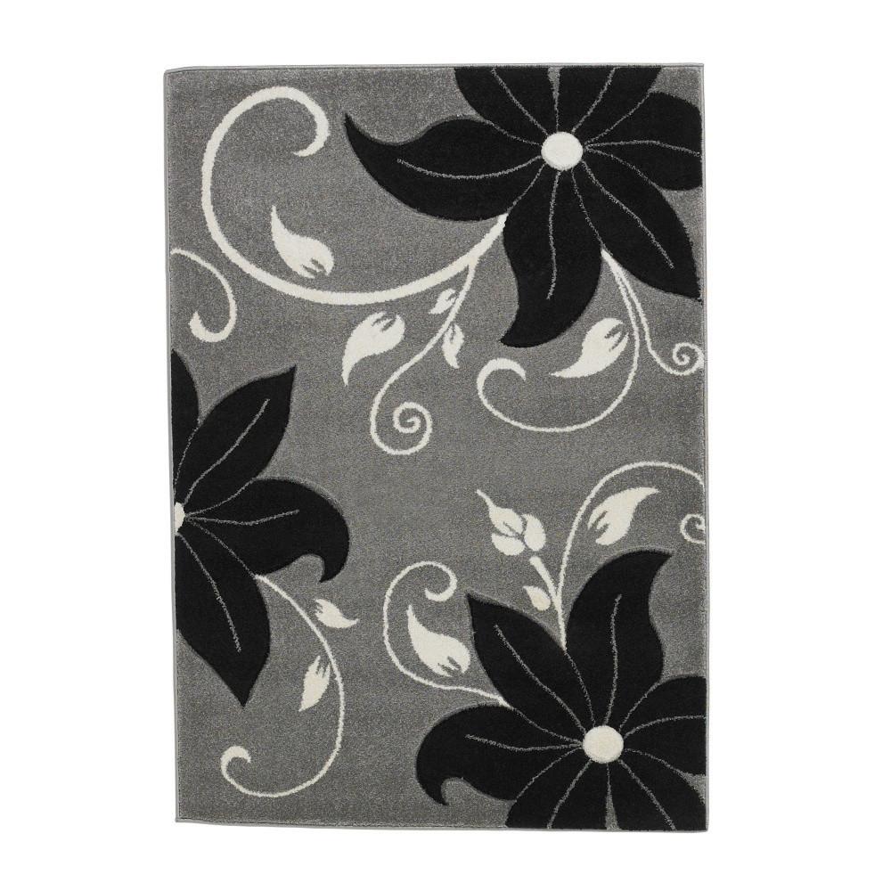 Čierno-sivý koberec Think Rugs Verona, 120x170cm