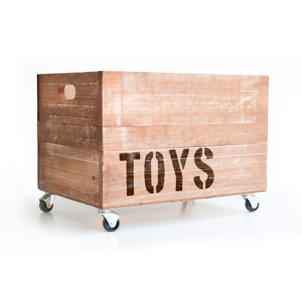 Drevená škatuľa na hračky Little Nice Things Toys